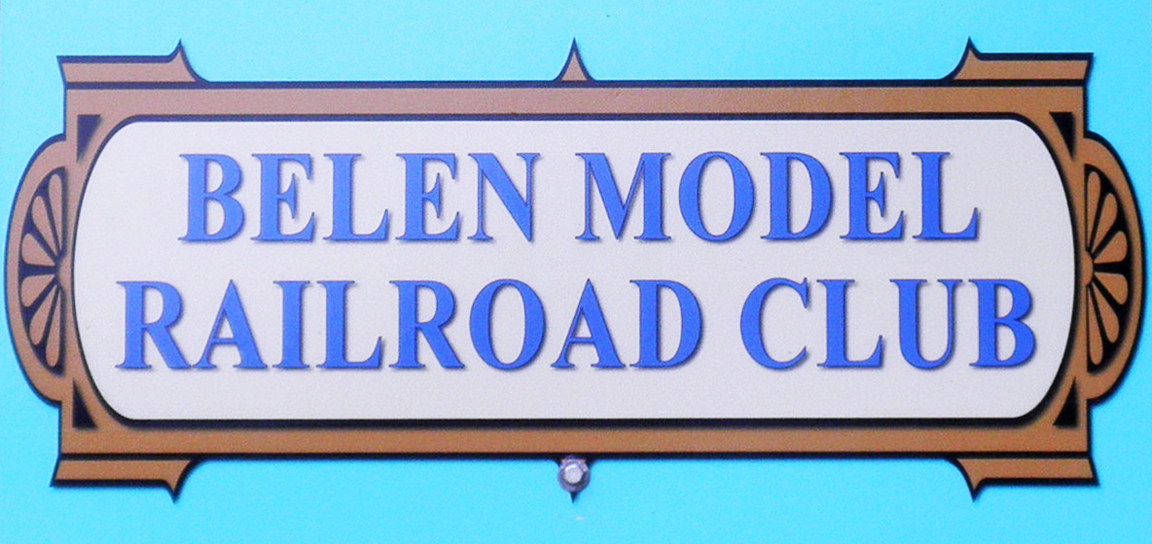 Belen Model Railroad Club sign at Harvey House Museum